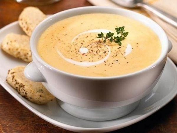 Суп из шампиньонов с плавленым сыром
