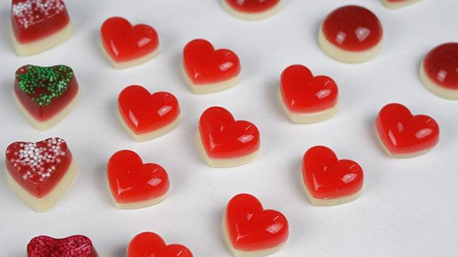 Желейные конфеты-сердечки