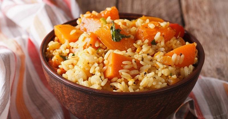Каша из тыквы с рисом