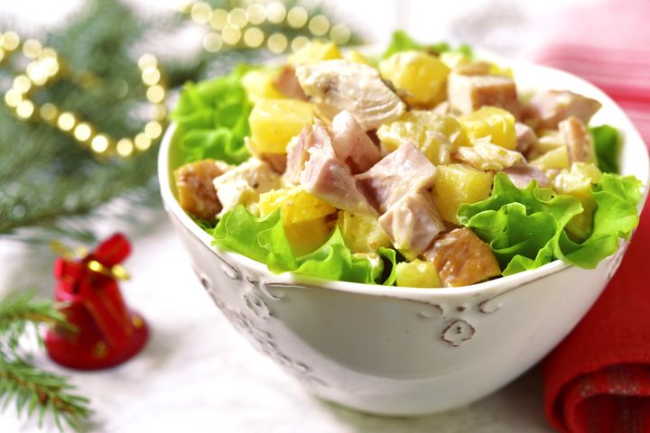 Новогоднее меню 2019: Гавайский салат