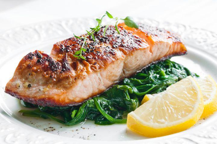 Рыба со шпинатом