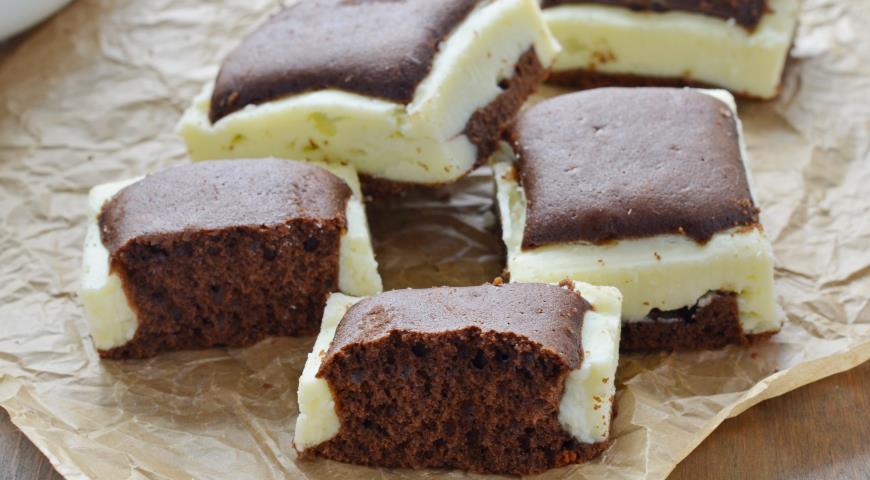 """Шоколадно-творожный пирог """"Подушки"""""""