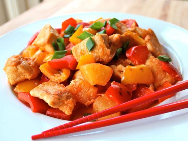 Китайская кухня: рецепт курицы в кисло-сладком соусе