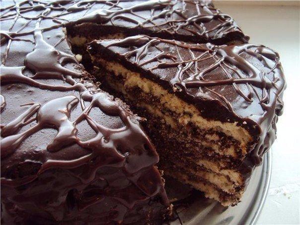 """Торт на кефире """"Чёрный принц"""""""