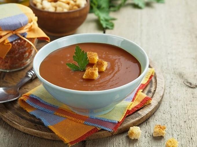 Крем-суп из красной фасоли