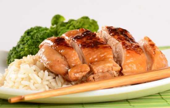 Куриное филе в духовке с соевым соусом и карри