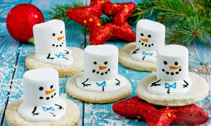 """Новогоднее печенье """"Тающие снеговики"""""""