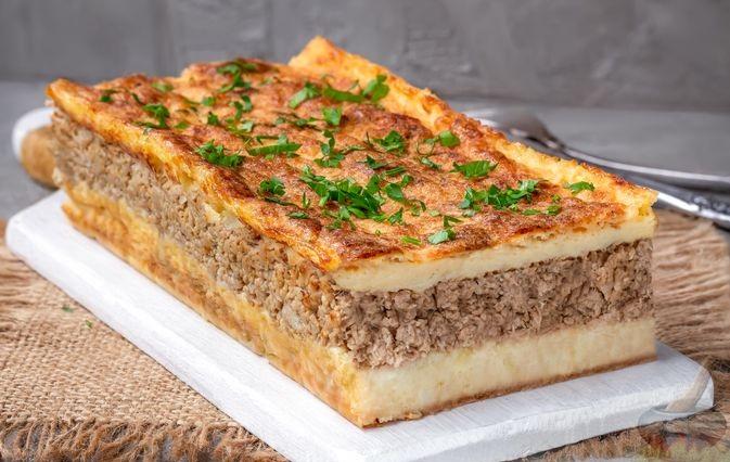Очень и очень вкусная картофельная запеканка с вареным мясом